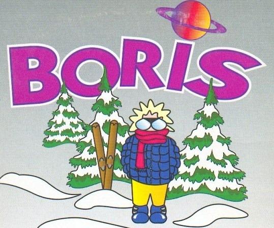 Cette année, Boris ne peut pas faire du Ski : y'a pas d'neige...